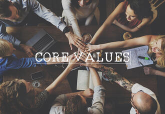 Team with Hands Together - Core Values